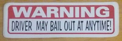 Home Decor Charlotte Nc Warning Driver May Bail Out At Anytime!  Vinyl Decal Sticker Cynthia Rowley Home Decor
