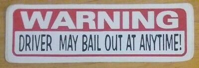 Home Decor Charlotte Nc Warning Driver May Bail Out At Anytime!  Vinyl Decal Sticker Beaded Home Decor Projects