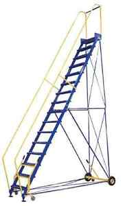 Rolling Warehouse Ladders, Many Sizes Available