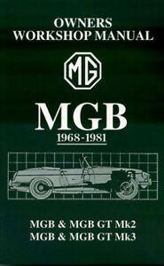 MGB SHOP MANUAL SERVICE REPAIR BOOK