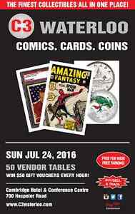 Comics, Sports Cards & Coins Show | Sun July 24th 2016