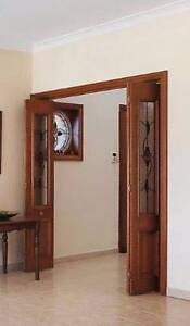 Solid wood, bi-folding stained glass door Liverpool Liverpool Area Preview
