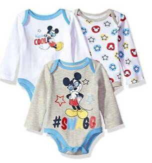 3 Pc Baby Boy Mickey Mouse Bodysuit (various sizes) - Brand New!