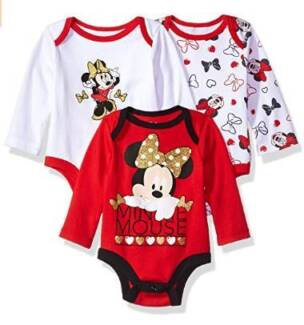 3 Pc Minnie Mouse Baby Girl Bodysuit (various sizes) - Brand New!