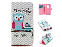 Flip Leather Wallet Waves Owl Pattern