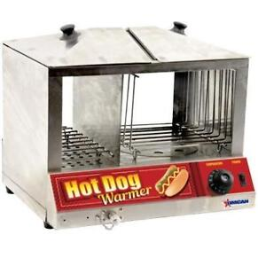 Omcan Hot Dog Steamer & Bun Warmer- Brand New