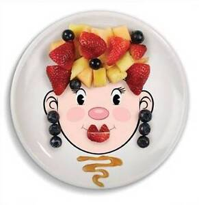 FRED Ms Food Face Kids Fun Dinner Plate New in box Bridgewater Adelaide Hills Preview