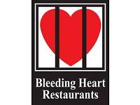 Chefs at the Bleeding Heart Restaurant