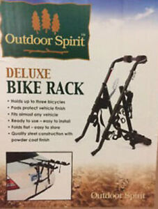 New Universal Deluxe Bike Rack 3 Bikes Carrier