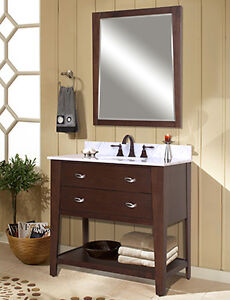 "30"" Bath vanity and matching mirror"