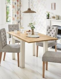 4-6 Seat Square to Rectangle Dining Room Table (NEXT)