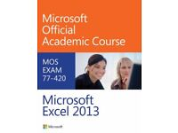 Microsoft Excel, Word, Outlook 2013 by Microsoft Official Academic Course MOS, 3 books lot