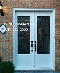 Door 96inches Double Wrought 8foot Front Iron  Save on Heat and