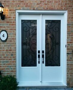 Front Double Door Wrought Iron 8 foot 96 inches