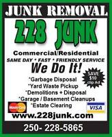 228 JUNK REMOVAL Parksville Qualicum and Nanaimo