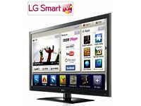 "*AS NEW* LG 47LV550T 47"" SMART TV Full HD 1080p LED with 500Hz (MCI) & Freeview HD + REMOTE + BOX"
