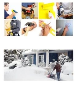Snow Removal,  Everyday Handyman Jobs, Fall Clean Up