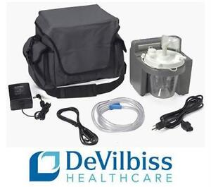 NEW DEVILBISS SUCTION ASPIRATOR MC MEDICAL INHALER NEBULIZER Portable Suction Aspirator Machine w/ Rechargeable Battery