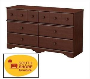 NEW* SOUTH SHORE 6-DRAWER DRESSER ROYAL CHERRY - LITTLE TREASURES COLLECTION - DOUBLE DRRESSER 105678384