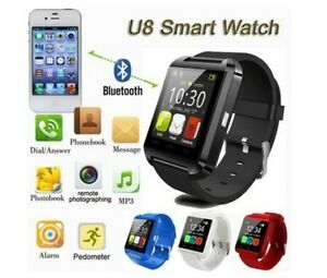 Smart Watch Bluetooth Watch Phone black and blue color 27$