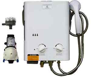 Eccotemp L5 Tankless Water Heater Bundle w/ 12V pump & strainer