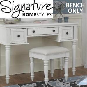NEW HOME STYLES VANITY BENCH 5543-28 214695218 BERMUDA WHITE