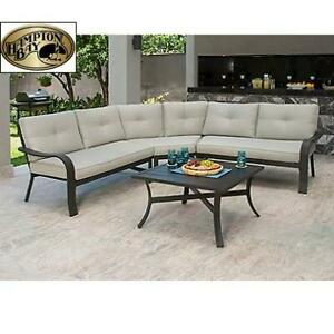 NEW* HAMPTON BAY 4PC SECTIONAL SET FZM70459C ST 240191394 VESTRI GRAY PATIO  W/