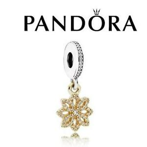 NEW STAMPED 925 PANDORA CHARM 791757CZ 129937086 JEWELLERY JEWELRY STERLING SILVER 14K GOLD LACE BOTANIQUE