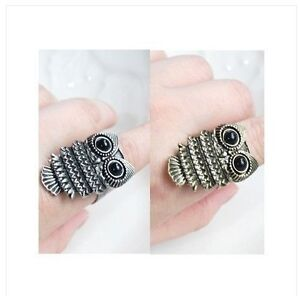 New-Fashion-Vintage-Retro-Cute-Owl-With-Big-Eye-Adjustable-Ring-Great-Gift-Hot