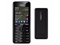 NOKIA Asha 206.1 Compact Mobile Phone SINGLE SIM -BLACK