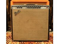 Vintage 1967 Blackface Fender Super Reverb 4×10 Combo Amp *w/ Demo* Original SRV
