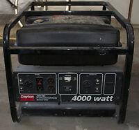 Génératrice Dayton / Honda 4000 Watts /  Mise au point récente