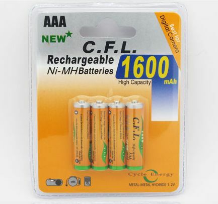 1600mAh RECHARGEABLE AA BATTERY | Ni-MH | PACK OF 4