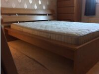 IKEA King size double bed with mattress