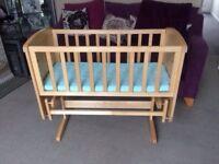 baby swinging crib.
