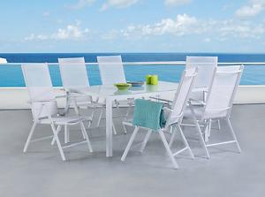 Outdoor Aluminum Wicker, Granite, Polywood & Teak Dining Sets
