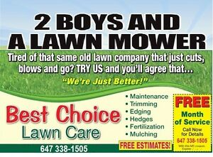 2 BOYS AND A LAWN MOWER BEST CHOICE LAWNCARE