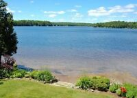 Cottage rental close to nature trails and with your own beach!