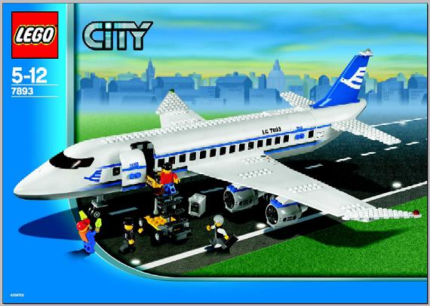 Lego City Airplane 7893 *RETIRED* (96% COMPLETE) (USED)