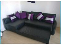 Beautiful Black Corner Sofa bed. Only £350 *Free Delivery & Free Assembly*