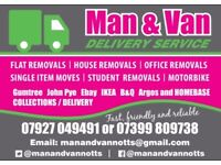 Man and Van - small removals nottingham