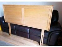 Solid oak headboard head board. EUC. KINGSIZE KING