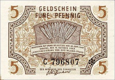 Ro.211 Rheinland-Pfalz 5 Pfennig 1947 Serie C (1)