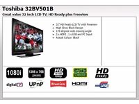 """Toshiba 32"""" TV Built-in Freeview"""