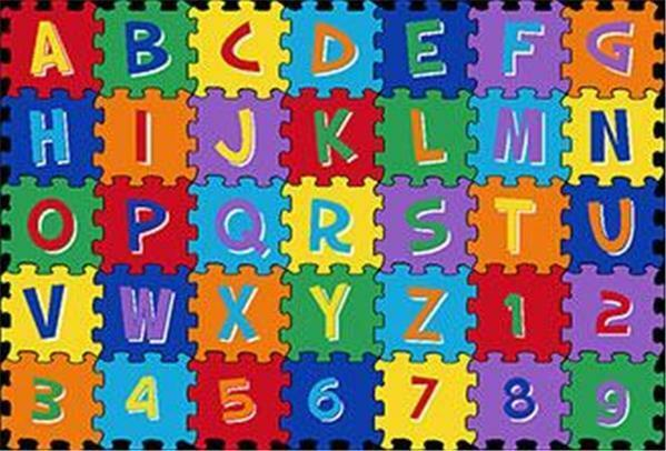 ~KIDS CHILDREN ABC ALPHABET PUZZLE SCHOOL CLASSROOM  8 X 11 EDUCATIONAL Area RUG
