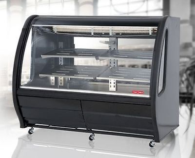 New Black 74  Curved Deli Bakery Display Case Refrigerated Or Dry Free Liftgate