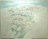 Very Large Original Framed Oil Painting Signed by Karson
