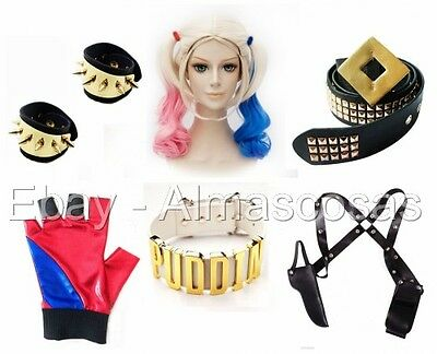 Costumes & Accessories (Harley Quinn Costume Accessories USA Harley Quinn Cosplay Halloween Jewelry)