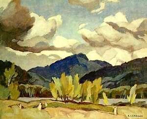 "A.J. Casson ""Hills at Baptiste Lake"" Litho - Appraised at $600"