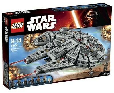 LEGO Star Wars Millennium Falcon (75105) USED Complete build, box & instructions